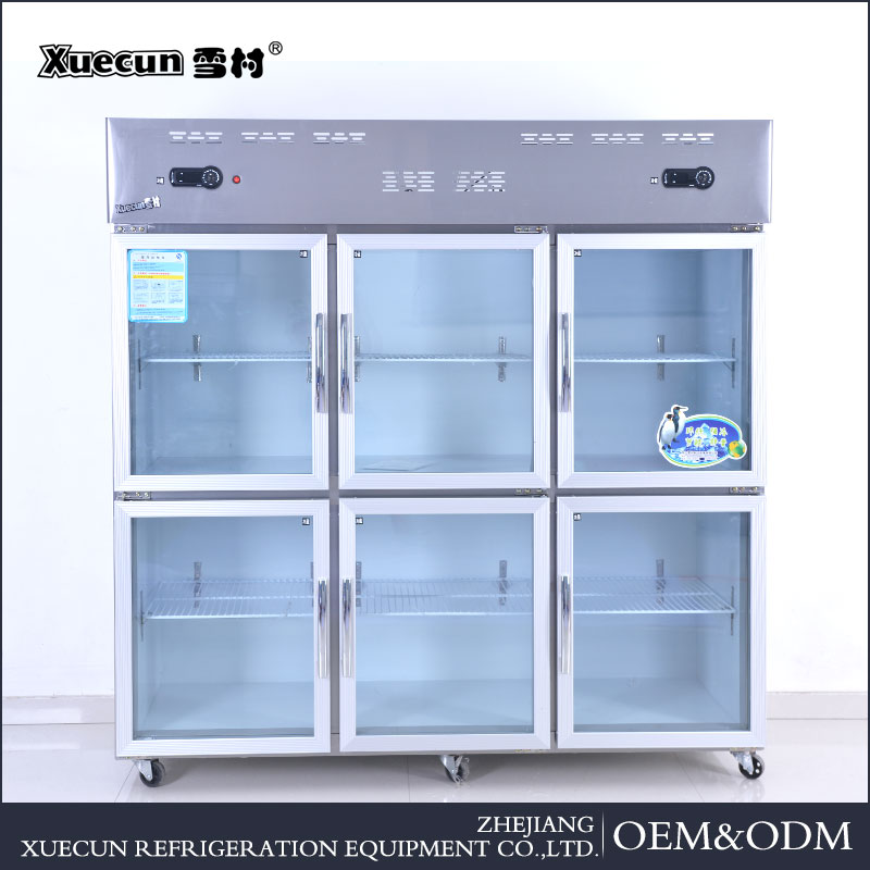New design static cooling six door kitchen refrigerator