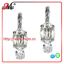 ER4643 New design fashion wholesale silver earring clear crystal earring