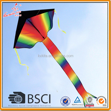 Easy flying large rainbow delta kite