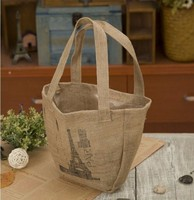 2015 burlap bag jute tote bag wholesale Handbag Jute Bag