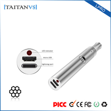 China new 300mah battery Four-step voltage adjustment wholesale wax vaporizer pen