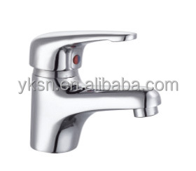 Single handle single hole Deck mounted Chrome plating Basin faucet made in China