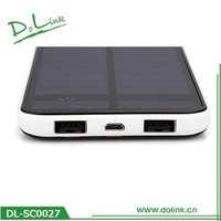 Imported polymer battery single crystal silicon super slim dual usb 12000mah solar charger
