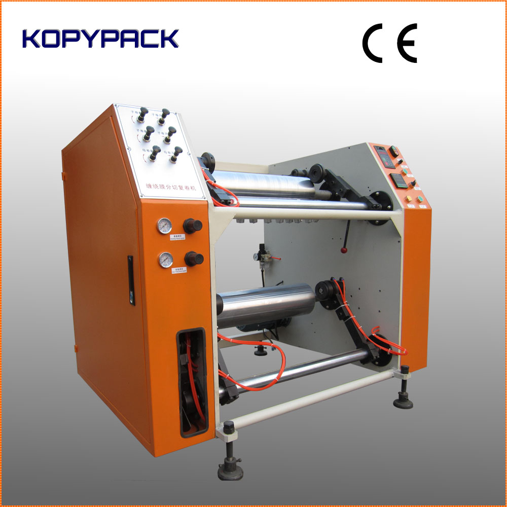 Semi Automatic Cling Film Stretch Wrapping Film Slitter Rewinder