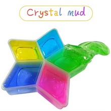 Colorful Clay for Slime DIY Crystal Mud Play Transparent Magic Super Light Clay Dough for Slime Toys for Kids