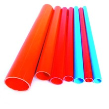 Red Blue white PVC Plastic Electrical Threading Cable Pipe