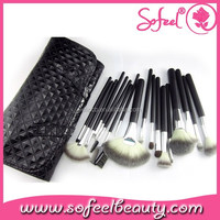 Sofeel 18pcs makeup brushes leather cosmetic brush case