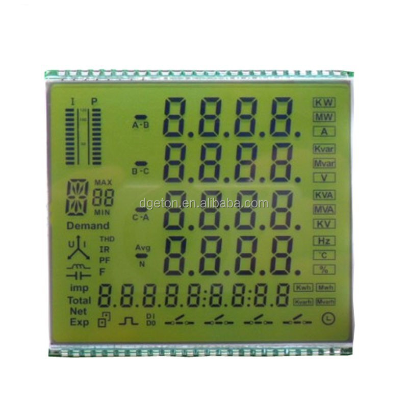 Customized TN LCD for Three phrase meter