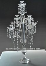 Superb Crystal 5 Arms Table Top Chandelier Centerpieces For Weddings (BS-CH056)