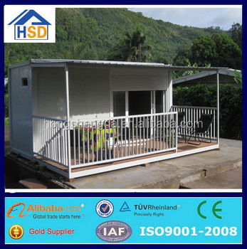 pre-made light steel frame eps flat pack shipping container bungalow