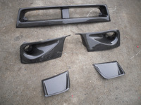 Carbon fiber AIR DUCTS SIDE VENTS LOWER GRILLE For IMPREZA 10 GRB STI HATCHBACK FRONT BUMPER CF