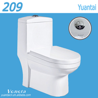 Chaozhou Alibaba China Supplier One Piece Ceramic Toilet