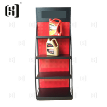 Customized floor type metal engine oil display rack stand