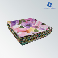 Manufacture Beautiful Flower Design Cardboard Candy Plate Food Paper Plate