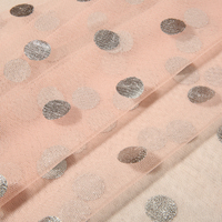 Direct Factory Price Beautiful 3d spacer Bridal Glitter Mesh Fabric