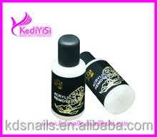 Nail art acrylic remover for nails