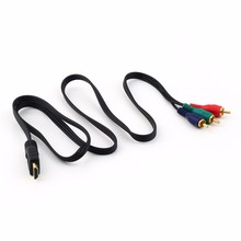 To 3RCA 3 RCA Adapter Connection function Video Component Convert Cable 3FT 1M