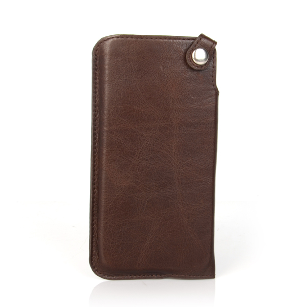 "4.7"" Genuine leather cover case for iphone 6 6s with OEM Logo"