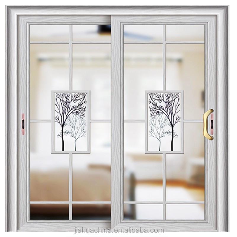 Aluminum profile glass door double sliding door for for Latest door design 2016