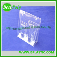 Clear clamshell packaging for light bulb, light bulb clamshell packaging