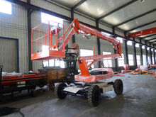 360 degree rotating hydraulic self-propelled boom lift, 300kg 16m electric arm-folding lift hydraulic