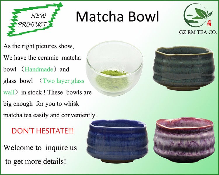 Light Red Porcelain Enameled Bowls Used for Holding Matcha Powder