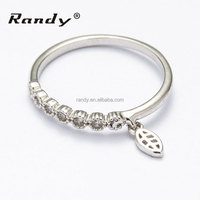 18k Fashion white gold plated piston ring latest ring designs