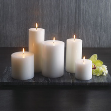 Paraffin wax material and aromatherapy type pillar shaped candle