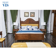China Manufacturer Luxury Royal King Wooden Bedroom Furniture Set