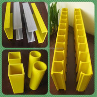 Pultruded FRP/Fiberglass/GRP Square tube and Composite Fiberglass support Beam cooling tower