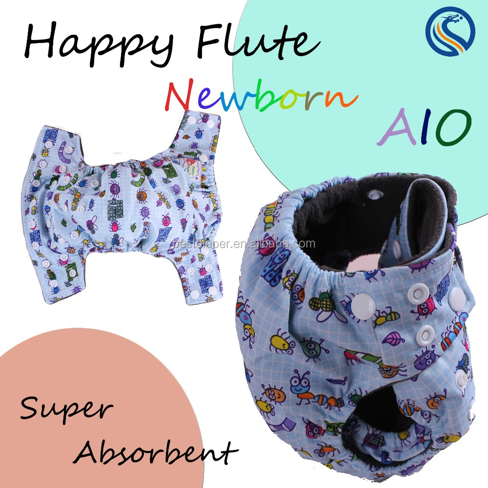 Super absorbent newborn aio sleep baby cloth diapers/ newborn cloth nappies/ baby nappy
