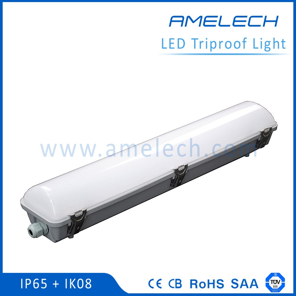 with meanwell led driver samsung leds 1.2m 1.5m pvc plastic ip65 tri-proof led batten