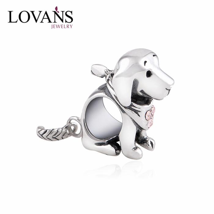 European Style 925 Sterling Silver Dog Charms Beads Wholesale YZ510