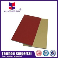 Alucoworld outdoor pvdf fire rated aluminum composite material