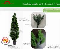 Manufacture high quality cypress tree/ custom made artificial christmas cedar tree decoration