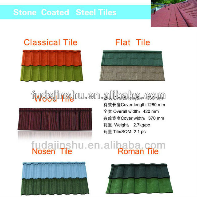 Chestnut stone coated roof tiles