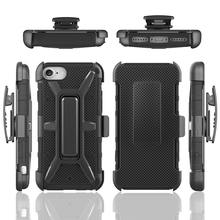 Black Heavy Duty Holster Case Belt Clip + Protective Rugged Cover for iphone 7 case with kickstand 2016