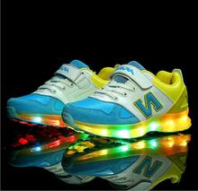 Colorful light kid comfortable glow shoe