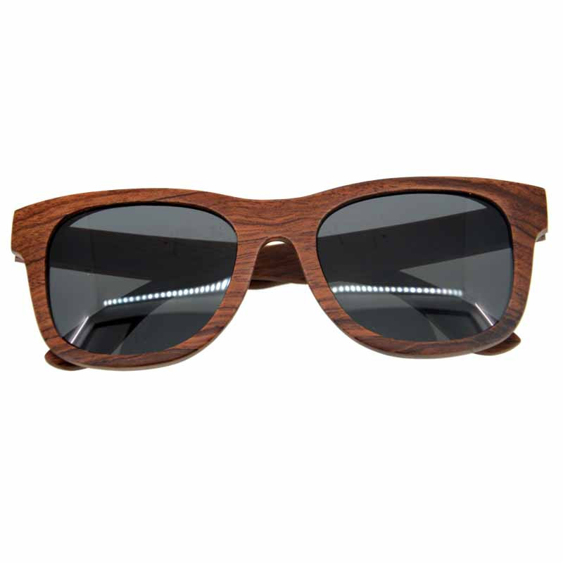2016 most popular new design frame and lenses OEM mirror polarized black wooden sunglass