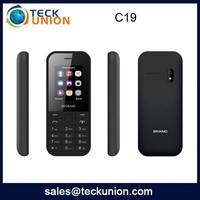 C19 2.4inch dual sim quad band cdma mobile phone 3g feature handphone