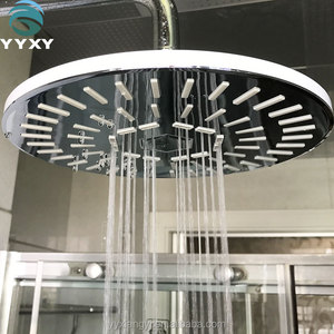 all stainless steel bright chrome rain shower head