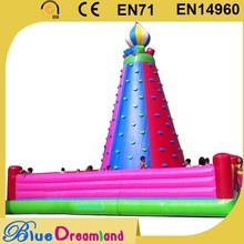 Factory price giant comercial inflatable rock climbing wall with high quality