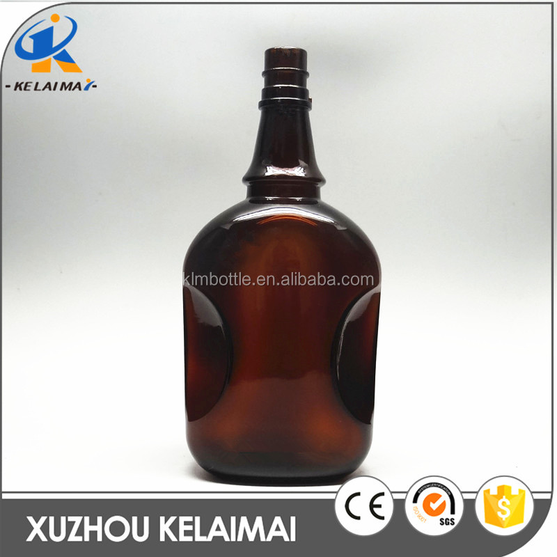 1500ml unique shaped amber wine or cooking sauce glass bottles