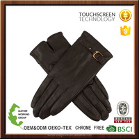 lady phone touch screen hairsheep leather gloves