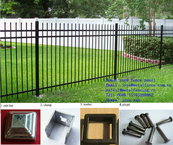 Easy installation colorful metal house yard fence panel for Easy fence installation