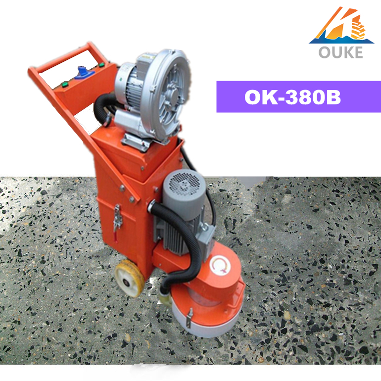 Machine english wheel concrete cleaner ok 380b marble for Concrete floor scrubber