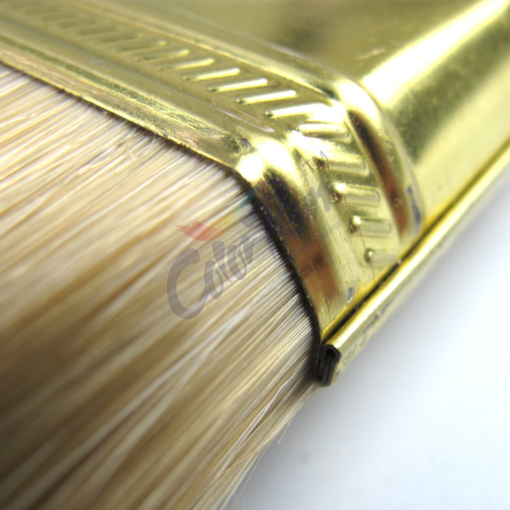 ColorRun Hot Sale Wooden Handle Pure Bristle Cheap Paint Brushes