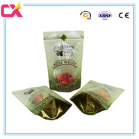plastic zipper pouch/dry fruit packaging bag/fruit protection bag mango with clear window