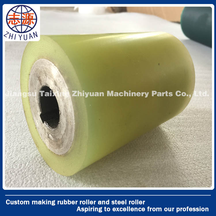 High quality rubber coated roller bearings pu rollers manufacture