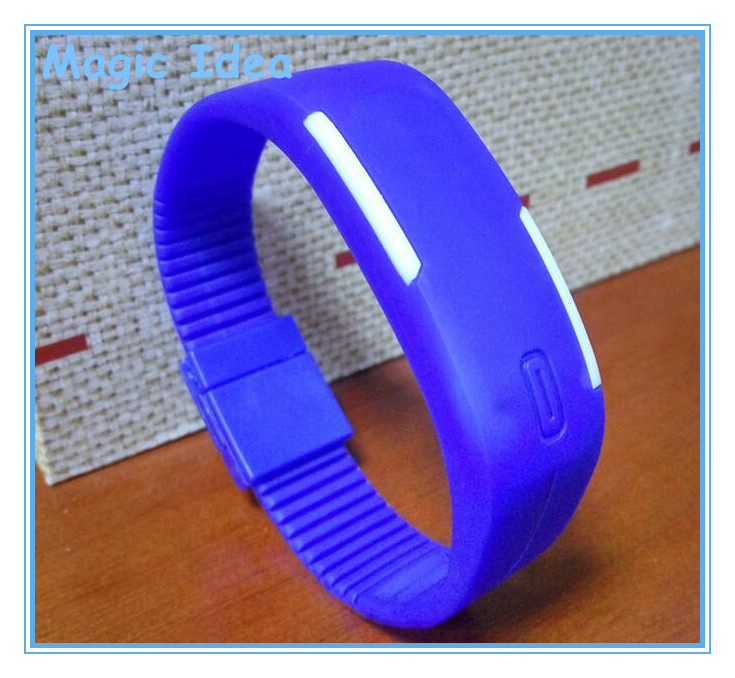 Hot Sale Rubber Silicone LED Watch with Digital Screen and Bracelet Wrist Band for Promotional Gifts